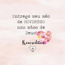 Novembro nas mãos de Deus