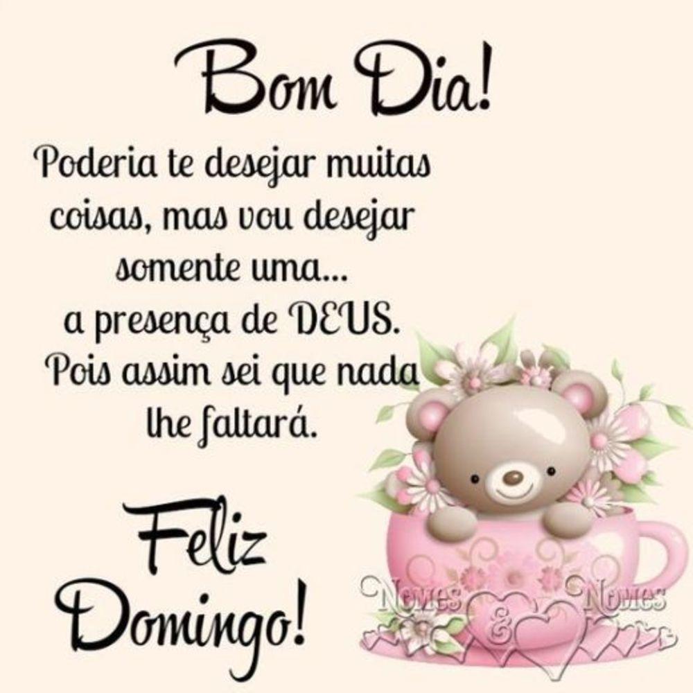 Bom dia feliz Domingo na presença de Deus