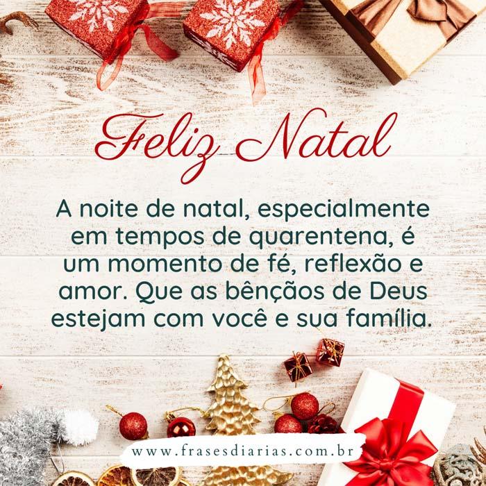 mensagem de natal a noite de natal especialmente em tempos de quarentena