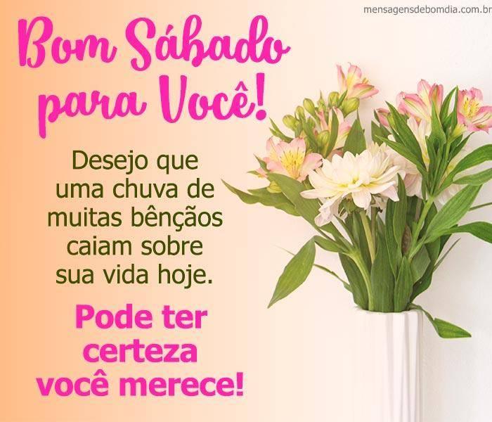 mensagem de bom sábado para você com bênçãos