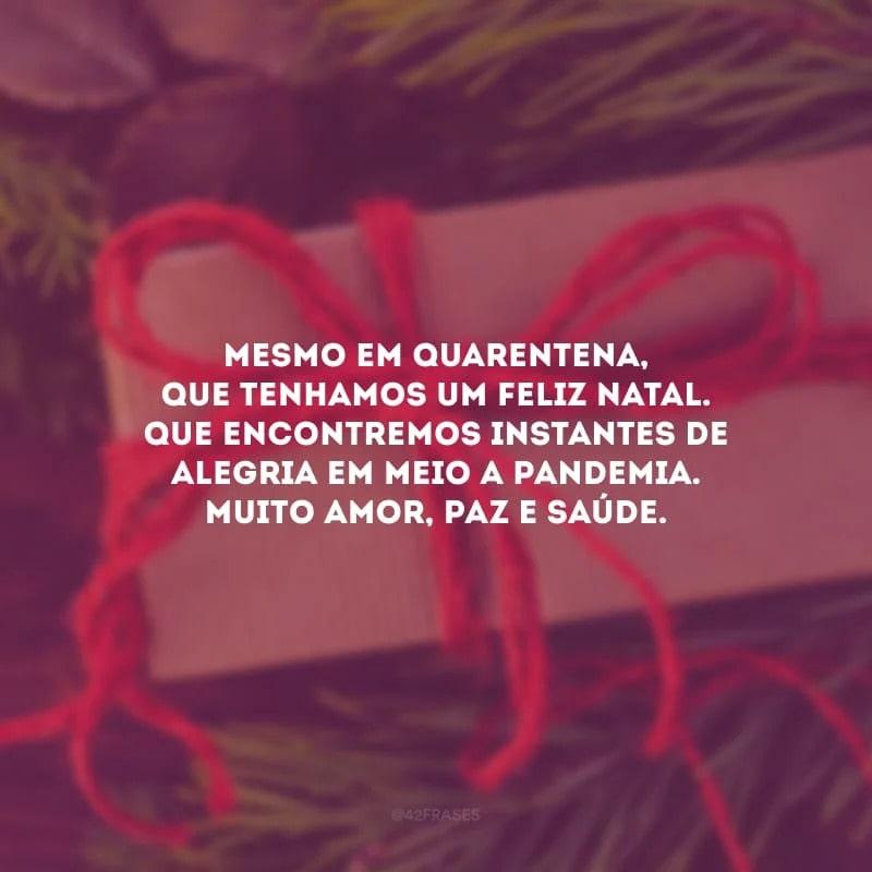 Feliz Natal em meio a pandemia