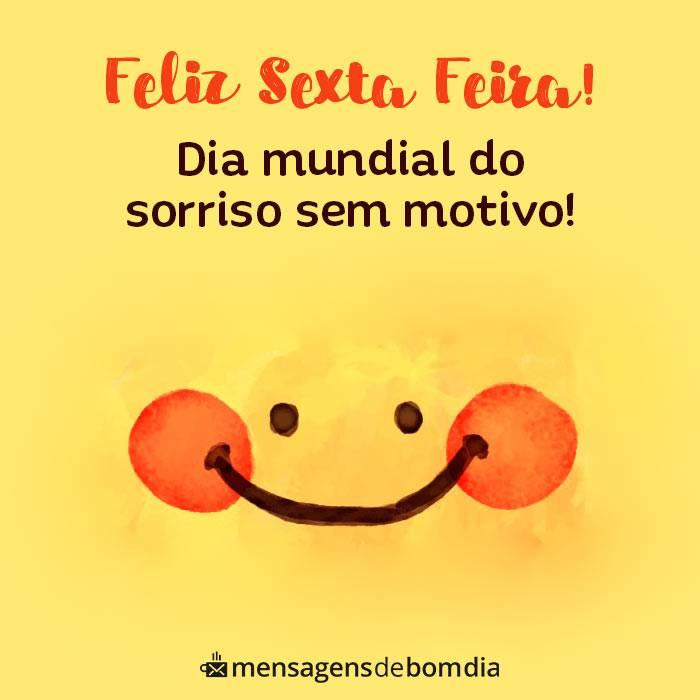 feliz sexta feira dia mundial do sorriso