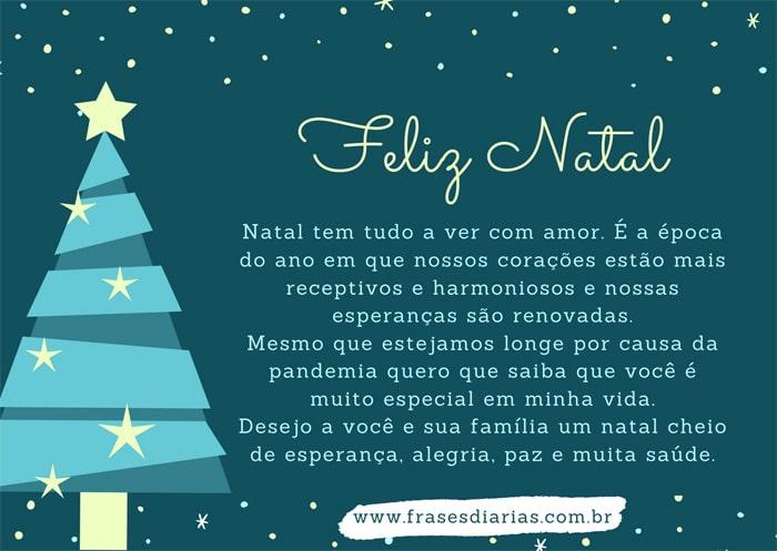 mensagem de natal pandemia Natal tem tudo a ver com amor