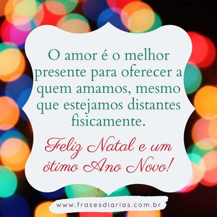 mensagem de feliz natal 2020 pandemia O amor é o melhor presente