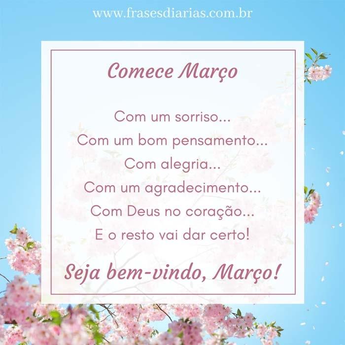 março com Deus no coração Seja bem-vindo março