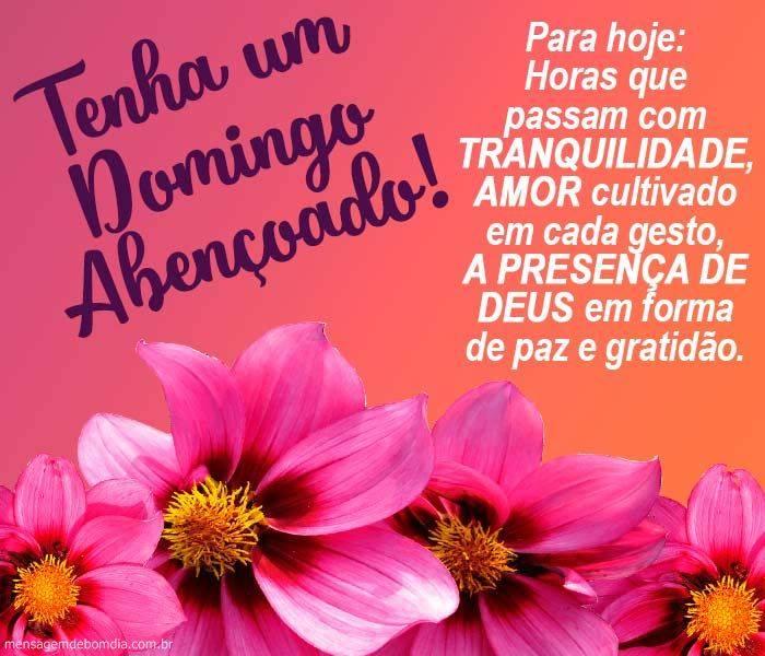 bom dia domingo abençoado na presença de Deus